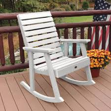 Highwood Weatherly White Recycled Plastic Outdoor Rocking Chair