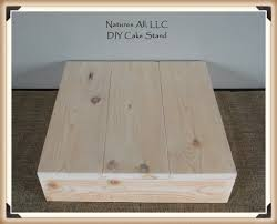 14 DIY Rustic Wedding Cake Stand Country Unfinished Natural Wood