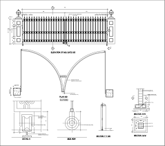 Bathroom Design Cad Blocks by Main Entrance Gates Design Cad File And Pdf Free Download Gate