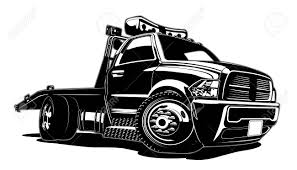 100 Tow Truck Vector Cartoon Isolated On White Background Available EPS8