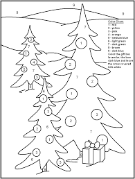 Cool Color By Number Christmas Coloring Pages
