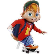 Alvin And The Chipmunks Cake Decorations by 39 Inch Alvin Skateboarding Foil Balloon Alvin And The Chipmunks