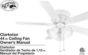 Intertek Ceiling Fan Manual by Hampton Bay Cf544h Peh Instructions Assembly