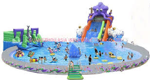 China Giant Inflatable Water Park For Kids Pool With Slides Supplier