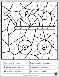 Free Music Thanksgiving Activities Coloring Pages