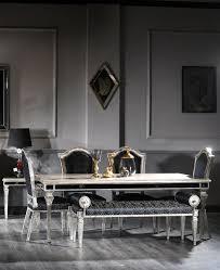 casa padrino luxus barock esszimmer stuhl set schwarz antik silber 55 x 58 x h 115 cm edles küchen stühle 6er set esszimmer möbel im barockstil