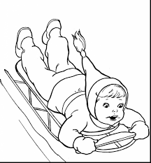 Fabulous Preschool Winter Coloring Pages With For Preschoolers And Christmas