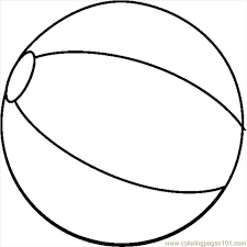 Coloring Pages Beachball1bw Natural World Seasons