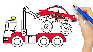 Police Monster Truck ON Tow Truck Coloring Pages - Draw Street ... Tow Truck Coloring Page Ultra Pages Car Transporter Semi Luxury With Big Awesome Tow Trucks Home Monster Mater Lightning Mcqueen Unusual The Birthdays Pinterest Inside Free Realistic New Police Color Bros And Driver For Toddlers