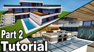 100 Inside Modern Houses Minecraft Realistic House Tutorial Part 2 Interior How