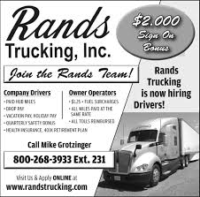 Company Drivers / Owner Operators, Rands Trucking, Inc, Medford, WI Nicholas Trucking Company Inc Us Mail Contractor Tg Stegall Co Preps New Truck Fleet For Carlsbad Hot Shot Service Mec Services Llc Armored Drivers Job Titleoverviewvaultcom Long Short Haul Otr Best Flatbed Oversize Load Jobs Cordell Transportation Dayton Oh Cpx 44 Photos 2 Reviews Cargo Freight Driving Schuster Cdllife Millis Transfer Solo Driver And Get Uber Is About To Kill A Lot More Mel Magazine