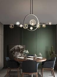 moderne esszimmer anhänger beleuchtung nordic glas
