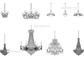 Chandeliers Dwg Cad File Download Free