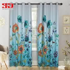 gedruckt moderne blackout farbverlauf blau vorhang für wohnzimmer küche artikel dekoration bunte floral tür vorhänge fenster