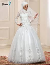 aliexpress com buy long sleeve muslim turtleneck wedding dresses