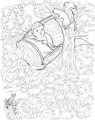 Click To See Printable Version Of Rock A Bye Baby Nursery Rhyme Coloring Page