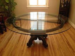 Round Glass Dining Set Table Large Room