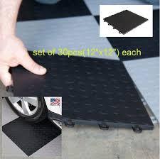 garage floor tiles interlocking mats coin top basement floating