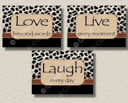 Leopard Print Bathroom Wall Decor by Leopard Print Cheetah Wall Art Picture Prints Live Love Laugh
