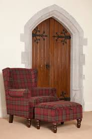 tartan wingback chair d84 on small home remodel ideas with