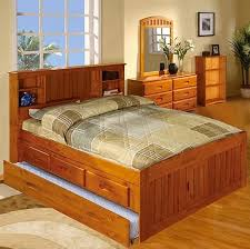 discovery world full size bookcase captains bed with storage and
