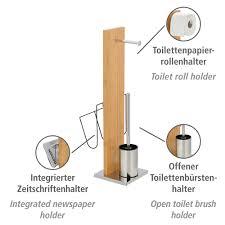 stand wc garnitur und zeitungshalter portofino bambus