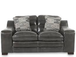 mathis brothers sofa and loveseats contemporary leather 69 loveseat in charcoal mathis brothers