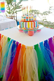Tulle Skirted Party Table