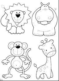 Cute Baby Animal Coloring Pages Feat Cartoon Medium