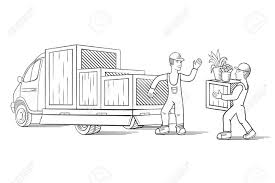 100 How To Load A Moving Truck Vector Illustration Of With Cargo For Or Relocation