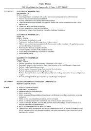 Medical Assembler Resume Sample