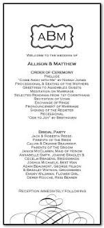 Black And White Wedding Program
