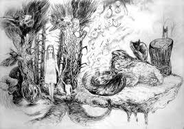 Drawings Aesthetic Animals Landscape Botany Nature Wildlife Black