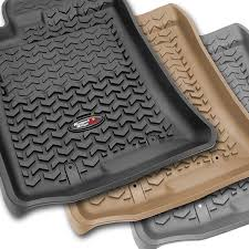 Rugged Ridge Floor Liners by Rugged Ridge 12988 29 Floor Liners Kit Black Front Rear Cargo