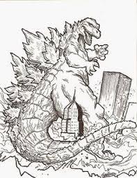 Godzilla Printable Coloring Pages Sheets