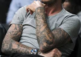 David Beckham Sleeve Tattoos