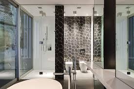 contemporary ensuite bathroom with cutting edge design in sydney