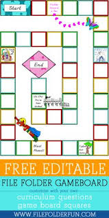 Free EDITABLE Game Board And Cards For Any Subject