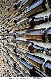 Glass Bottle Concrete Wall Recycled