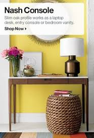 Crate And Barrel Slim Desk Lamp by Echelon Console Table I Crate And Barrel Entryways Pinterest