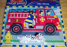 Melissa & Doug - Fire Truck Wooden Chunky Puzzle (18 Pcs) | Fire ... Melissa Doug Fire Truck Floor Puzzle Chunky 18pcs Disney Baby Mickey Mouse Friends Wooden 100 Pieces Target And Awesome Overland Park Ks Online Kids Consignment Sale Sound You Are My Everything Yame The Play Room Giant Engine Red Door J643 Ebay And Green Toys Peg Squirts Learning Co Truck Puzzles 1