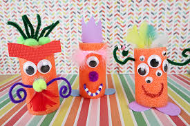 Fun Kids Craft Idea Pool Noodle Monsters Using Supplies From The Dollar Store