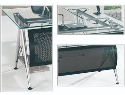 Tempered Glass Computer Desk by Modern Office Furniture Table Design Executive Office Desk