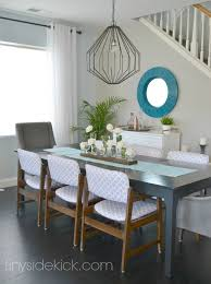 Dining Room Gray And Blue Color Scheme
