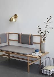 hübsch interior skandinavische sitzbank mit sitzkissen