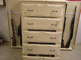 Custom Made Rustic Pine Dresser With Gun Storage