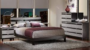 Gardenia Silver 5 Pc Queen Platform Bedroom Queen Bedroom Sets