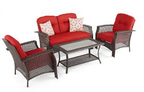 Red Patio Furniture Canada by Hometrends Tuscany 4 Piece Conversation Set Walmart Canada