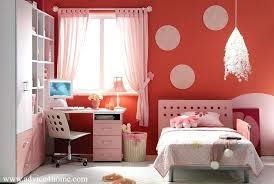 Pink And Red Bedroom Kids Set Drum Pendant Lighting In