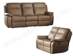 ub design canapé canapé cuir ub design ensemble relax fiona 3 2 places taupe mes